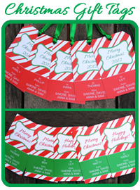 FREE CHRISTMAS CANDY CANE GIFT TAGS