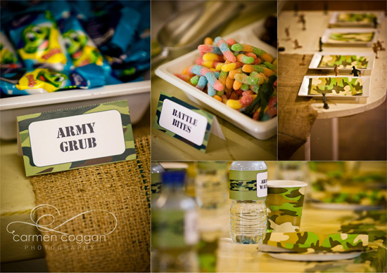 Army Birthday Party Food & Printables