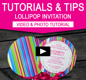 DIY Lollipop Invitations | Candyland Birthday Party - Video Tutorial