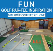 Mini golf course inspiration for home | Golf Birthday Party