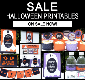 Halloween Party Printables - Editable Templates copy