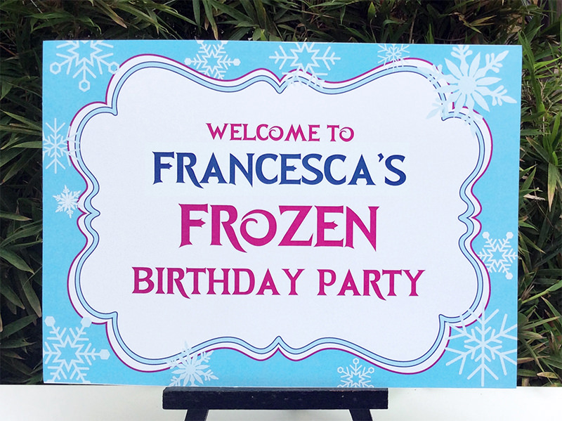 Frozen Birthday Party Printable Templates | Frozen Party Theme