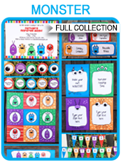 Printable Monster Party Templates