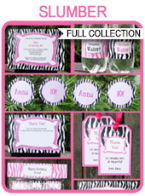 Slumber Party Printables