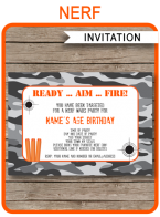 Nerf Party Invitations Template