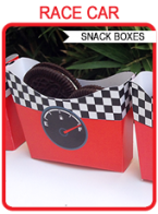 RACE CAR SNACK BOXES | Birthday Party Food Ideas