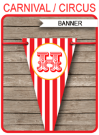 Carnival Party Banner template – red