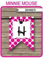 Minnie Mouse Party Banner template – pink