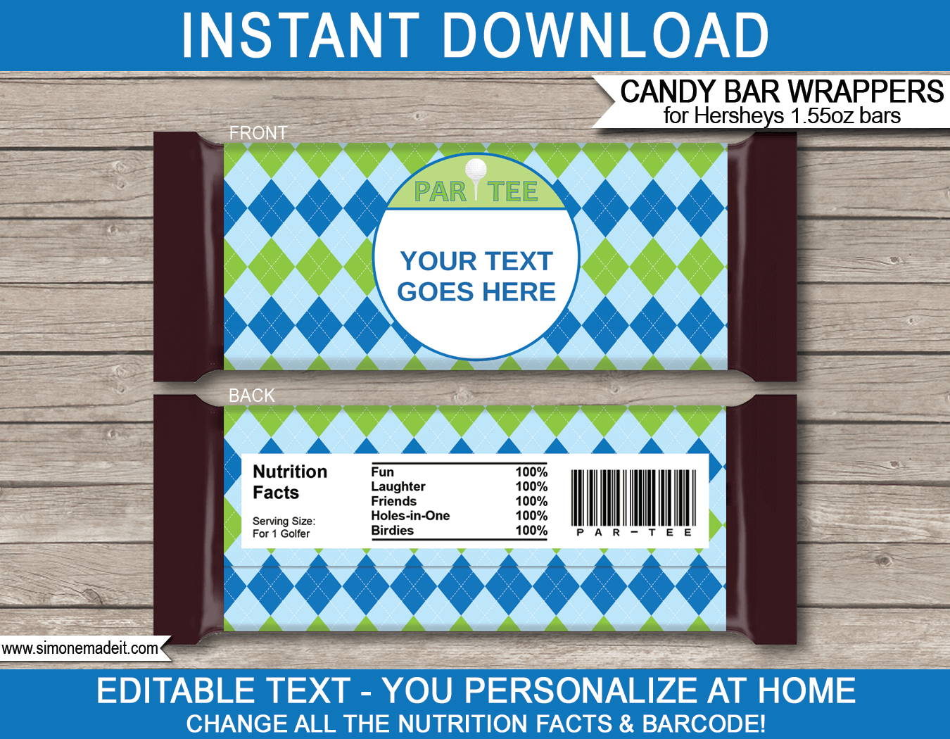 custom candy wrappers templates golf hershey candy bar wrappers personalized candy bars