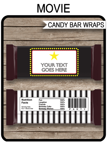 Movie Hershey Candy Bar Wrappers   Personalized Candy Bars