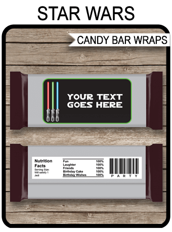 Star Wars Hershey Candy Bar Wrappers | Personalized Candy Bars