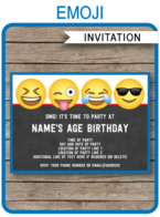 Emoji Theme Party Invitations Template for boys | Emoji Birthday Party | DIY Editable & Printable Invite | INSTANT DOWNLOAD via simonemadeit.com
