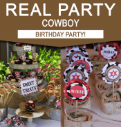 Cowboy Birthday Party Ideas - Real Party