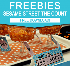 Free Sesame Street Party Printables | The Count