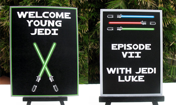 Star Wars Party signs | Birthday Party | Theme Printable Template