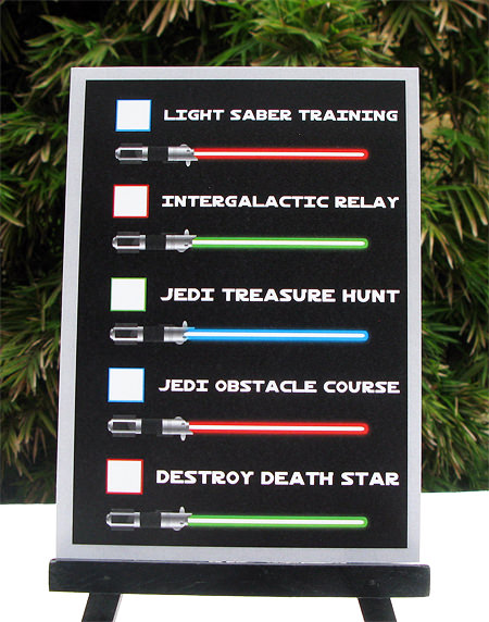 Star Wars Party Jedi Training Checklist | Birthday Party | Printable Template