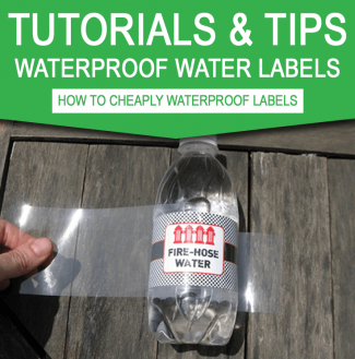 Tutorial – Cheaply waterproof your water bottle labels