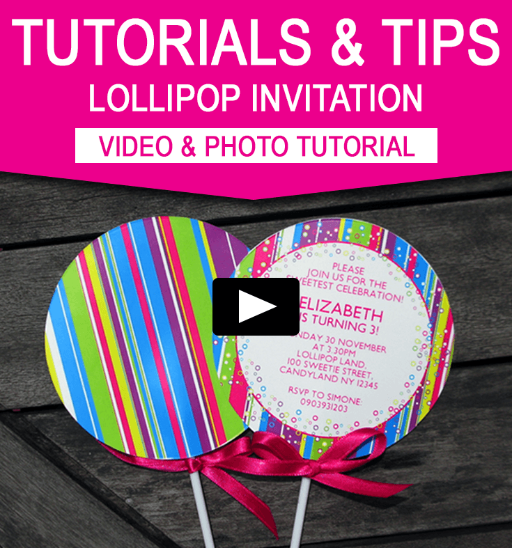 lollipop invitation new in my candyland printable collection