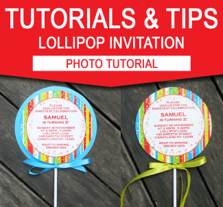 Lollipop Invitations - Photo Tutorial