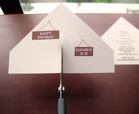 camping tent invitation tutorial