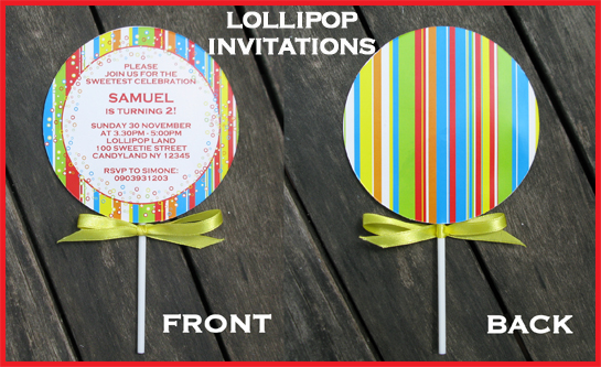 Another New Printable Lollipop Invitation