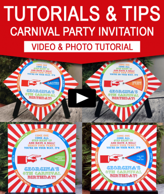 Carnival Party Invitations - Video Tutorial