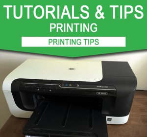 Printing Tips for editable party printables PDF files