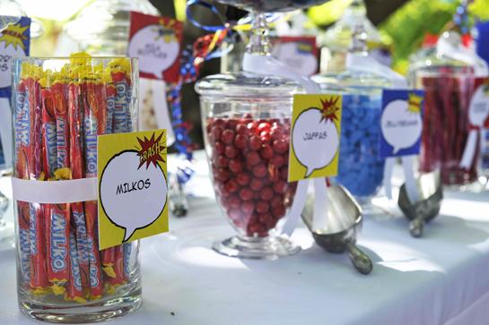 SUPERHERO PARTY candy bar