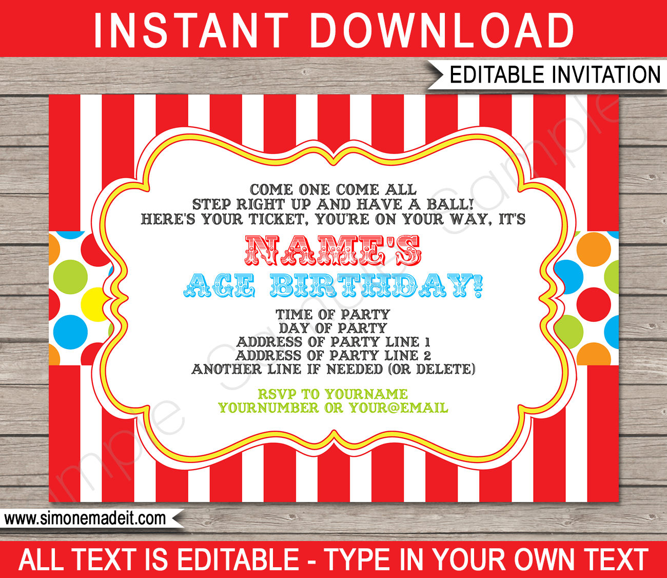 Free printable ticket invitations templates