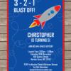 Rocketship Invitation