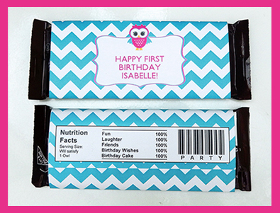 Owl Printable Collection Choc Wrappers