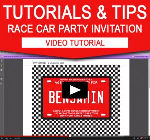 Editable Race Car Birthday Party Invitation - Video Tutorial