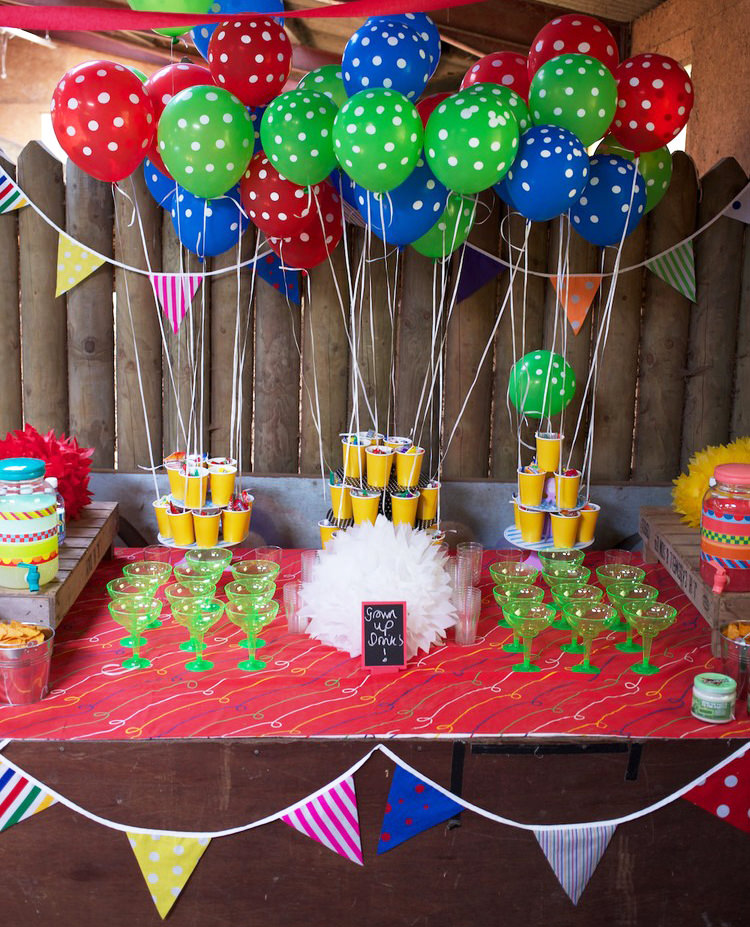 Circus or Carnival Party Ideas - Drinks