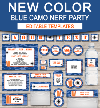 New Blue Camo Nerf Printables