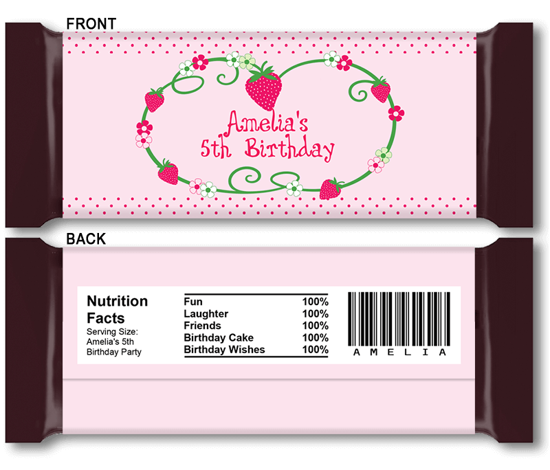 Diy candy bar wrapper templates party favors chocolate for Personalized chocolate wrappers template
