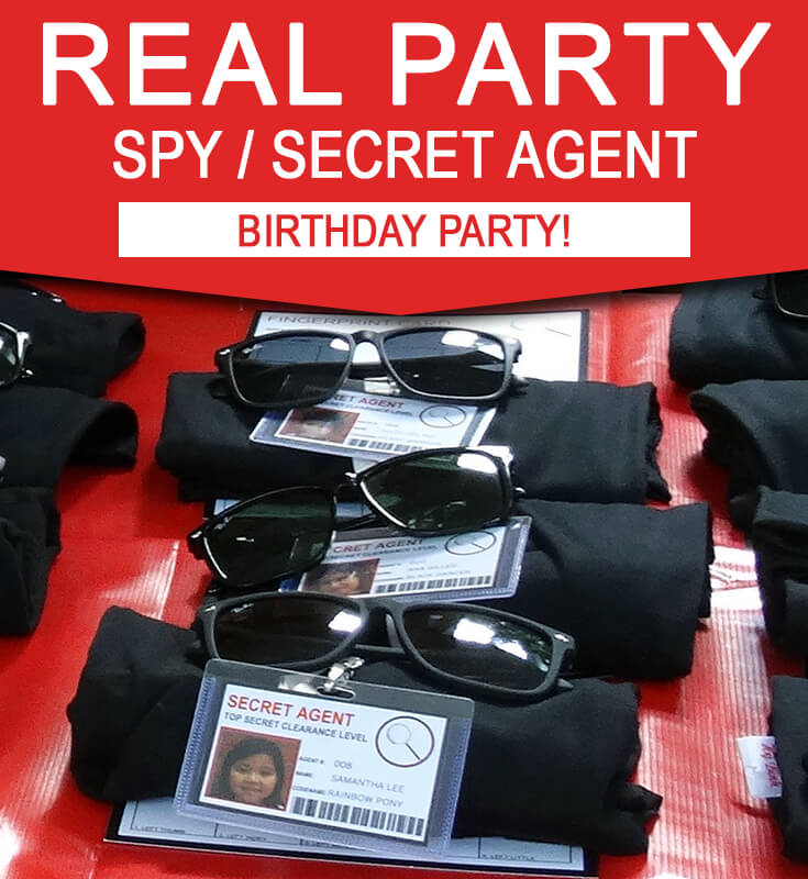 Sam's 8th Spy Birthday Party | Secret Agent or Spy Theme | Find Ideas and Inspiration