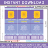 Editable Friends Themed Ticket Invitation - edit at home using Adobe Reader - Instant Download via simonemadeit.com