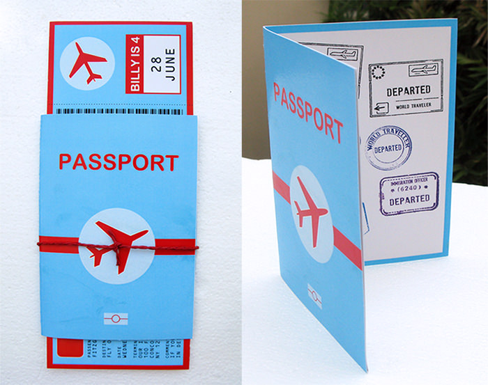 Boarding Pass Invitation and Passport