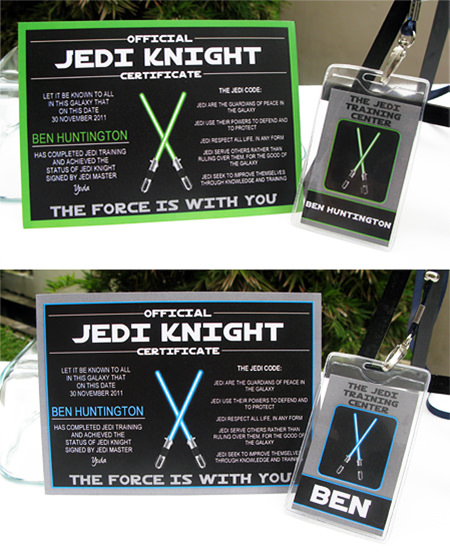 Star wars jedi training birthday party printables for Jedi certificate template free