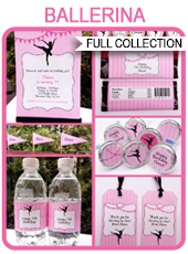 Ballerina Party Printables, Invitations & Decorations