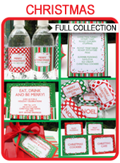Printable Christmas Party & Gift Tag Templates