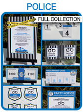 Police Party Printables, Invitations & Decorations