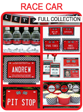 Printable Race Car Party Templates