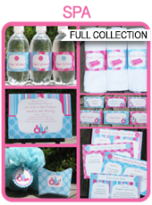 Printable Spa Party Templates