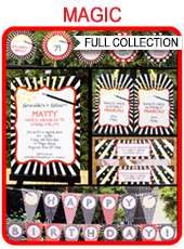 Magic Party Printables, Invitations & Decorations