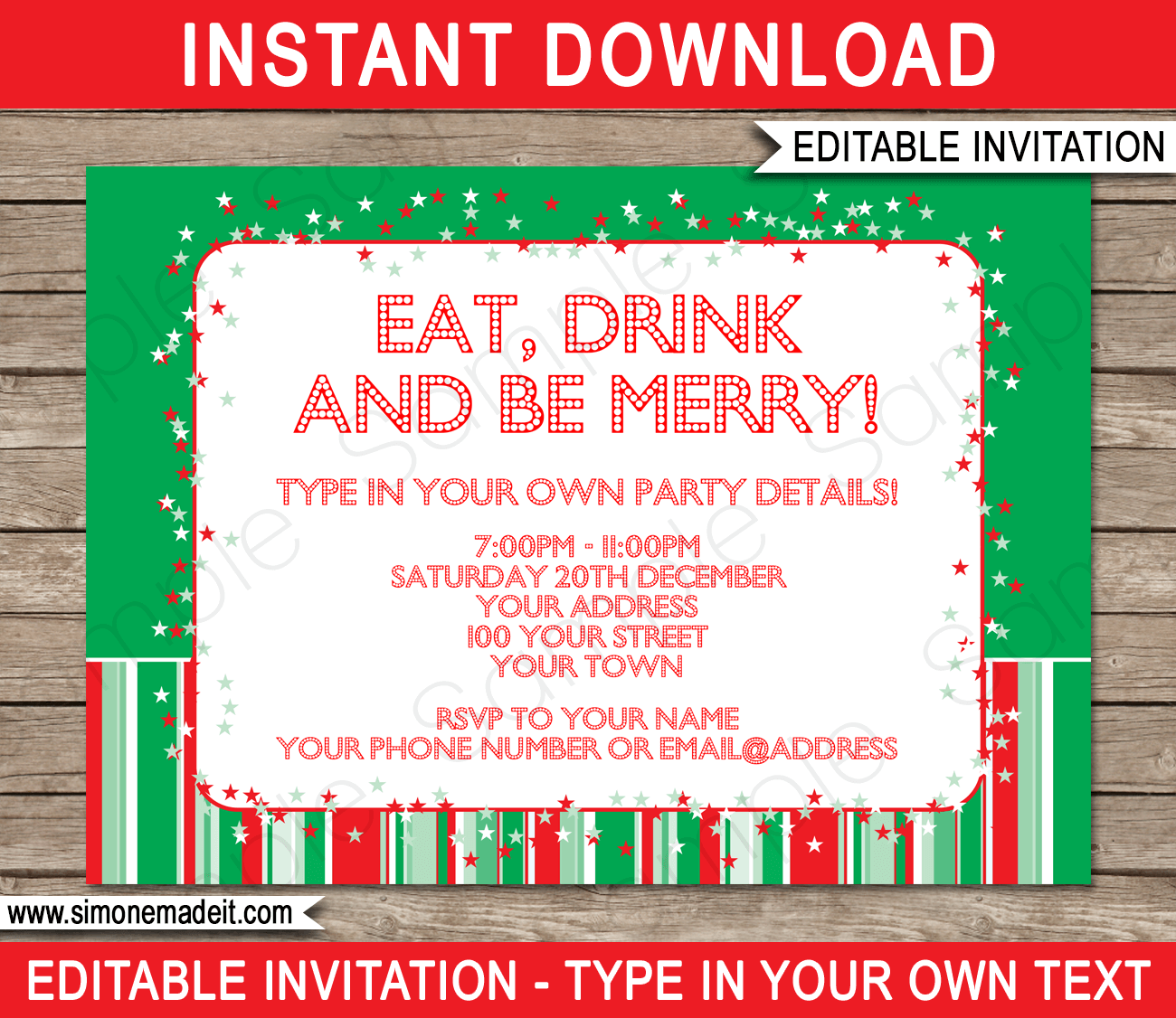 free christmas invitation templates - christmas party invitations template holiday party