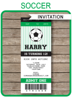 Printable Soccer Party Invitations Template