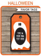 Halloween Favor Tags template