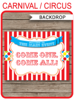 Printable Carnival Party Backdrop Sign | Come One Come All | colorful dots | DIY Template | Instant Download