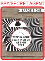Spy Party Signs – large size